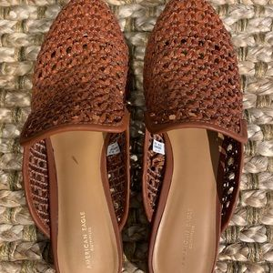 American Eagle woven mules